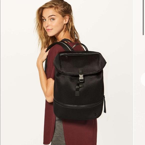 lululemon athletica Handbags - Lululemon | Go Lightly Mesh Rucksack Black Backpak